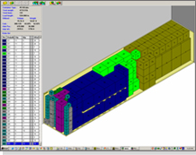 load planning software user interface showing allocation of space in container in SBT freight management systems